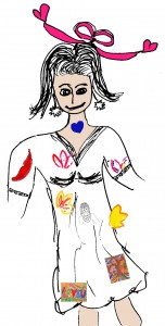 P7 Embodying Your Creativity woman with art in body